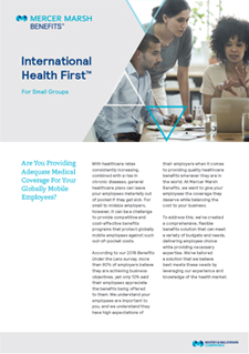 International Health First for Small Groups